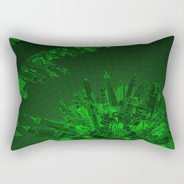 Future City Green Rectangular Pillow