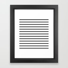 Horizontal Lines (Black/White) Framed Art Print