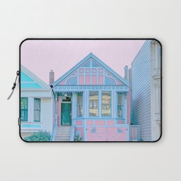 San Francisco Painted Lady Victorian House Laptop Sleeve