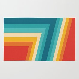 Colorful Retro Stripes  - 70s, 80s Abstract Design Rug