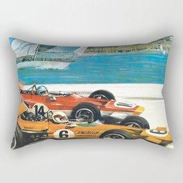 1970 Monaco Grand Prix Racing Rectangular Pillow