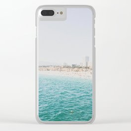 Santa Monica Beach MINT Clear iPhone Case