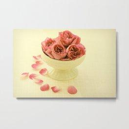 vinatge roses Metal Print