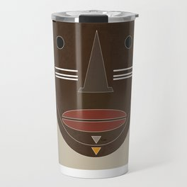 African mask Travel Mug
