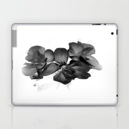Black Geranium in White Laptop & iPad Skin