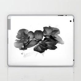 Black Geranium in White Laptop & iPad Skin