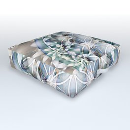 Flower of Life Mandalas 1 Outdoor Floor Cushion