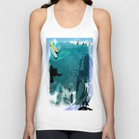 surfing Tank Tops featuring Surfing by Robin Curtiss