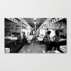 Somethings Fishy [Black & White] Canvas Print