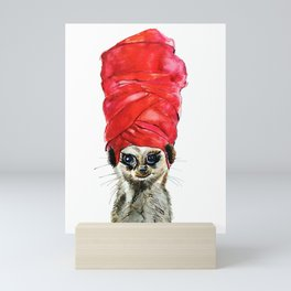 Red Turban Mini Art Print