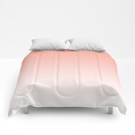 Delicate coral and white. gradient. Comforters