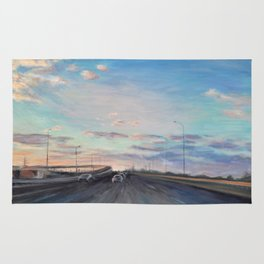 The way home_State Route 1 Rug