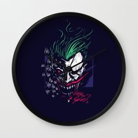 joker Wall Clocks featuring Joker by Steven Toang