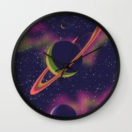 Space And Planets. Wall Clock