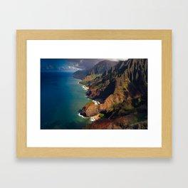 Na Pali Coast, Kaua'i, Hawai'i - Full Image Framed Art Print