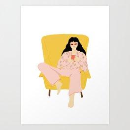 Pyjama Sunday Art Print