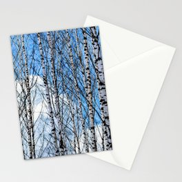 Birch Trees. Early Spring Stationery Cards