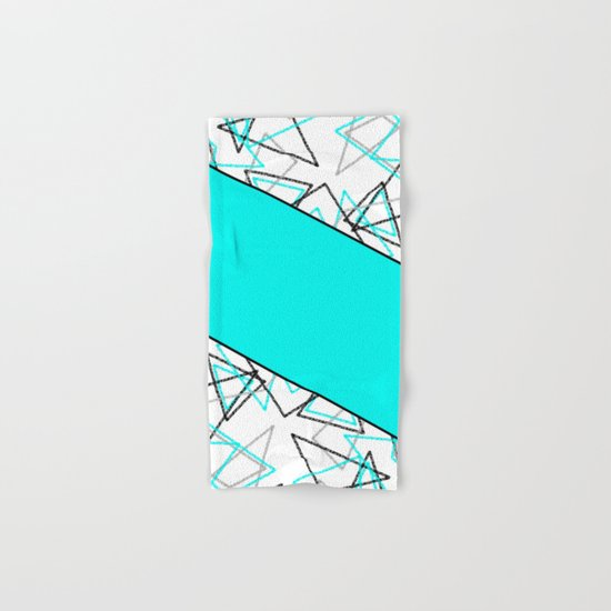 Abstract turquoise combo pattern . Hand & Bath Towel