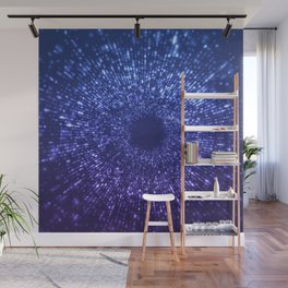 Sci Fi Abstract Outer Space Universe  Mystic Blue Wall Mural