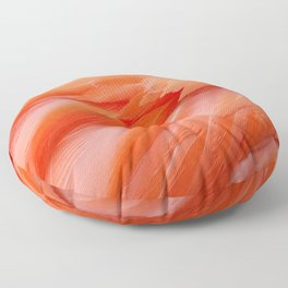 Flamingo Feathers Floor Pillow