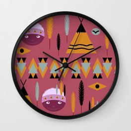 Cute children's American pattern Wall Clock