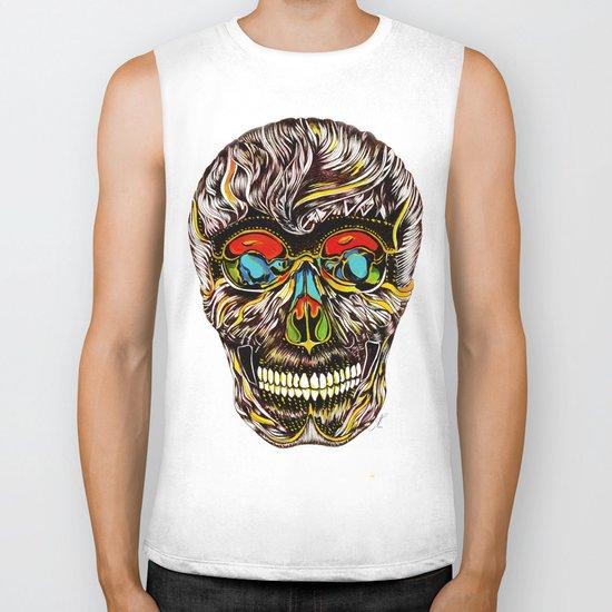 Colorful Skull Biker Tank