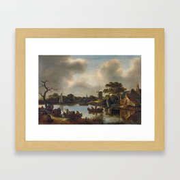 Lake Town Framed Art Print