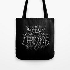 Black Metal Christmas Tote Bag