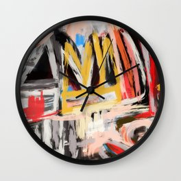 The king was there Wall Clock