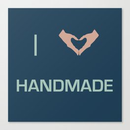 I heart Handmade Canvas Print