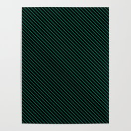 Lush Meadow and Black Stripe Poster
