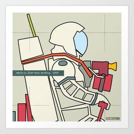 Astronaut 1969 Art Print