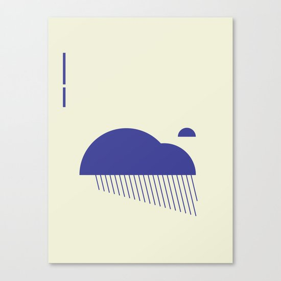 Minimal Clouds Rain Canvas Print