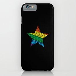 LGBT Rainbow Star Rainbow Pride Love Retro iPhone Case