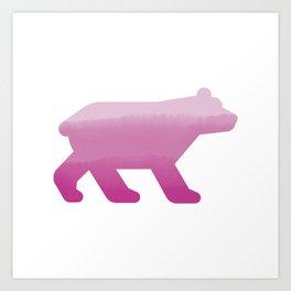 Pink Bear - Wildlife Series Art Print
