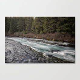 Metolius River near Wizard Falls Canvas Print