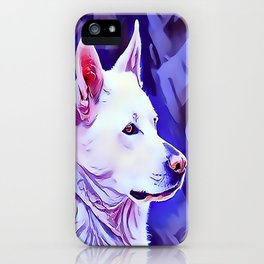 The White German Shepherd iPhone Case