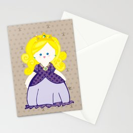 Blonde Princess Stationery Cards