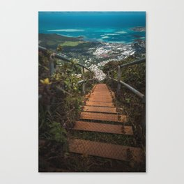 Stairway to Heaven, Hawaii Canvas Print