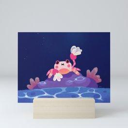 Pom pom crab Mini Art Print