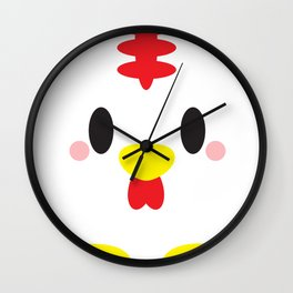 Rooster Block Wall Clock