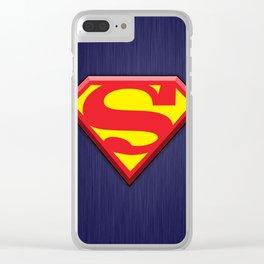 Super Hero Super Man Clear iPhone Case