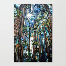 Golden Cedars Canvas Print
