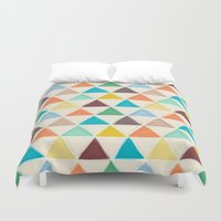 portland Duvet Covers featuring Portland triangles by Sharon Turner