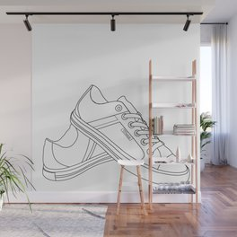 Two Shoe Word Wall Mural