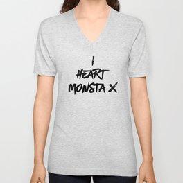I Heart Monsta X - Monbebe Unisex V-Neck