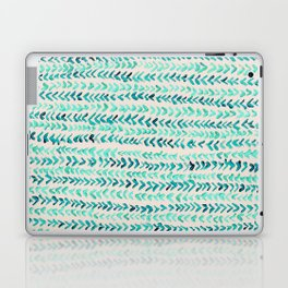 Hand Painted Herringbone Pattern in Mint Laptop & iPad Skin