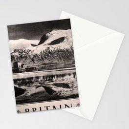 retro dark Ben Nevis Britain old psoter Stationery Cards