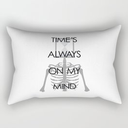 Time's Always on My Mind Rectangular Pillow