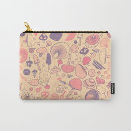 Vintage Mushroom Pattern Carry-All Pouch